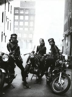 Chanel, supermodels, and motorcycles