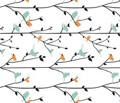 Spring Birds - Rotated fabric by jbhorsewriter7 on Spoonflower - custom fabric
