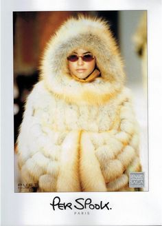1991 SAGA Fox from Scandinavia  FUR  :PER SPOOK magazine Print AD