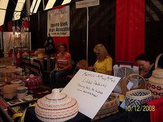 Cherokee Basket Weaver's Association booth, Cherokee Art Market 2008