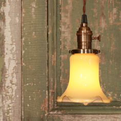 Pendant Lighting with Vintage Honey Gold Glass by lucentlampworks,