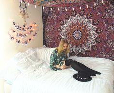 Buy hippie mandala tapestry wall hanging college room wall tapestries on sale. I love my queen mandala bedspread and cotton beach throw. love my sofa blanket.
