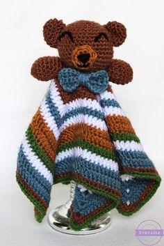 The Cuddliest Crochet Bear Lovey for a baby shower gift!