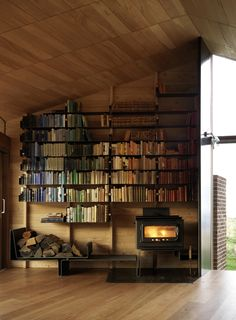 Shearers Quarters House / John Wardle Architects Home Decor Log Home Decorating - Before and After Photos Living Room Design, Pictures, Remo. Interior Architecture, Interior And Exterior, Farmhouse Architecture, Building Architecture, Modern Interior, John Wardle, Home Libraries, Cabin Homes, Lofts