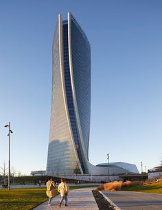 zaha hadid generali tower citylife shopping district