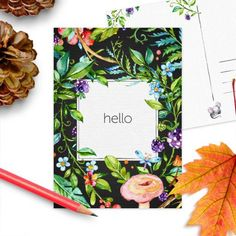 Postkaart Hallo herfst | Hello