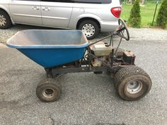 Lawn Tractor Trailer, Lawn Mower Trailer, Tractor Loader, Garden Tractor Attachments, New Toyota Land Cruiser, Homemade Tractor, Go Kart Plans, Electric Bike Kits, Work Train