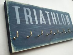Triathlon medal display