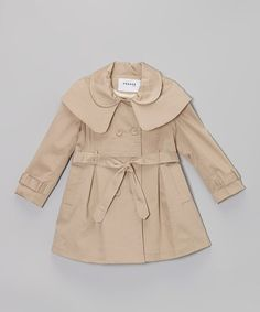 Look what I found on #zulily! Tan Trench Coat - Toddler & Girls #zulilyfinds