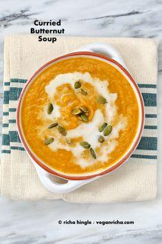 Curried Butternut Squash Soup. Vegan Glutenfree Recipe | Vegan Richa