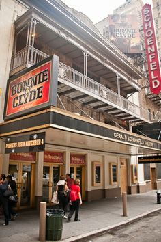 Gerald Schoenfeld Theatre, the former home of Bonnie and Clyde