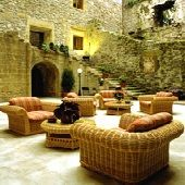 """interior of Parador de Hondarribia--this was a gorgeous parador--it's also called """"Fuenterrabia""""--I think that's the Basque name.  We looked out our window across the bay and into France."""