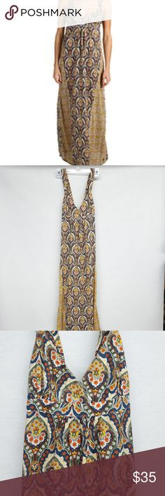 "Volcom Going In Circles Dress Combo Volcom Going In Circles Dress. Beautiful boho style with empire waist. Length is about 48-49"" long from armpit. Really pretty design, yellow, blue, orange, green. Back is stretchy with criss cross design. Cotton. Great condition. Size S / 10 Volcom Dresses Maxi"