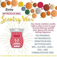 Scentsy wax bars are a safe way to fill your home or office with your favorite fragrances. Contact your local Scentsy consultant for fragrance or perfume questions. Scentsy Uk, Scentsy Games, Wax, Fragrances, Spring Summer, Menu, Facebook Party, Independent Consultant, Free