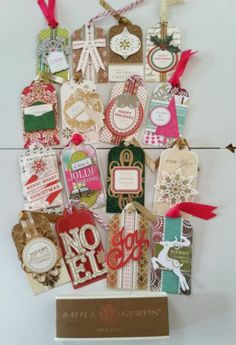 Anna Griffin Dimensional Christmas Tags Set of 16 2013 limited release