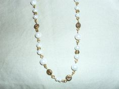Handmade one of a kind pearl and gold tone by MyCynthiasJewelry, $20.00