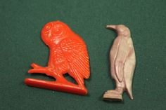 Set of 2 Vintage 1950's Cracker Jack prizes by julesoldjewels