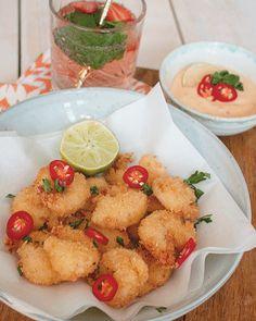 Recept: Krokante garnalen met chilimayonaise