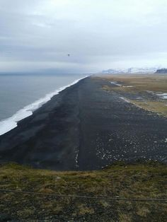 Black sand beaches of Dyrholaey Nature Reserve (Iceland).