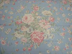 WINDOW VALANCE m with NEW RALPH LAUREN BLUE PINK WHITE FLORAL FABRIC TREATMENT - Curtains & Drapes