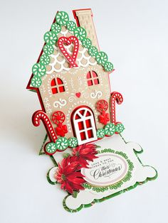 gingerbread house template Hello friends, Tonight is the night and tomorrow is the big day! Its going to be one jam packed, crafting extravaganza! We will be bringing the bes Christmas Shadow Boxes, Mini Christmas Tree, Christmas Bows, Christmas Cards To Make, Holiday Cards, Xmas Cards, Christmas Greetings, Christmas Stuff, Christmas Ideas