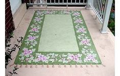 paint a rug on your floor  front porch?