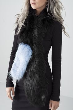 "MONX BRAND- ""ICE"" FAUX FUR SCARF"