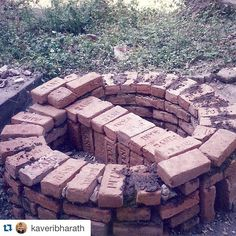 """Repost @kaveribharath with @repostapp.  One of the first """"kilns"""" that I built and fired in 1998 for the Sishya school students. / by woodfiredpotterykilns"""