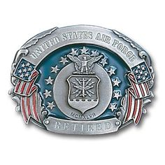 "Checkout our #LicensedGear products FREE SHIPPING + 10% OFF Coupon Code ""Official"" Military US Air Force Retired  Enameled Belt Buckle - Officially licensed Military, Patriotic & Firefighter product Fully cast, metal buckle Bail fits belts up to 2 inches wide Exceptional detail with an enameled finish  - Price: $23.00. Buy now at https://officiallylicensedgear.com/military-us-air-force-retired-enameled-belt-buckle-u6e"