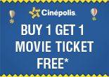 Get 1 Movie Ticket FREE of Cinepolis Cinemas | FreeKaaMaal.com