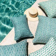 Walter G Wholesale Portal - AUS - Tapi Emerald linen cushion 50x50cm Beautiful Textures, Pillow Forms, Coastal Living, Home Textile, Vibrant, Cushions, Textiles, Throw Pillows, Pattern