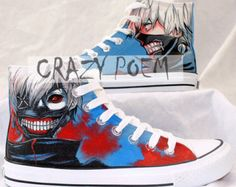 eba60ea3d369 High Quality Tokyo Ghoul Hand Painted Shoes High Top Canvas Shoes Custom  Converse Best Gifts for