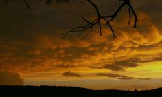 This sunset and cloud formation was the residue from a storm system that passed over my home.