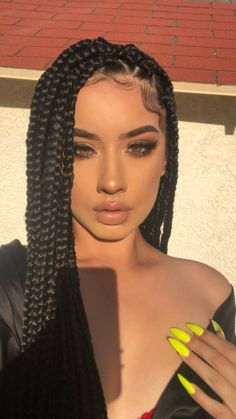 Long Black Braided Box Braids Wig Synthetic High Temperature Fiber Lace Front Wigs For Women 30 inch Lady& Wig - Box Braid Wig, Braids Wig, Big Box Braids, Cornrows, Brown Box Braids, Ombre Box Braids, Triangle Box Braids, Medium Box Braids, Blonde Box Braids