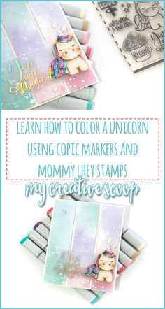 No Line Coloring - Step by Step Unicorn Copic Tutorial Copic Markers Tutorial, Nerd Crafts, Silhouette Cameo Tutorials, Coloring Tips, Coloring Tutorial, Learn Calligraphy, Alcohol Markers, Colouring Techniques, Marker Art