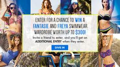 You should enter Fantasie and Freya Sweeps. There are great prizes and I think one of us could win!