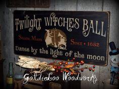 Primitiv Volkskunst Halloween Twilight Hexen von GoldieLooWoodworks