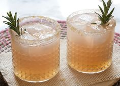Grapefruit and Rosemary Spritzer // A Cozy Kitchen