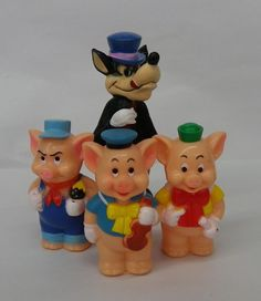 3 little pigs cake | THREE LITTLE PIGS and the Big Bad Wolf, Disney Trademark, Cake Toppers ...