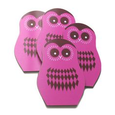 Owl Oona Coaster Set Of 4, $29.50, now featured on Fab.