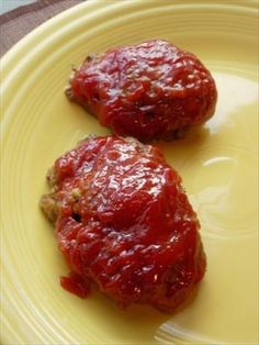 """Lil  Cheddar Meatloaves from Food.com:   We have given up all other meat loaf recipes for this one. I love the individual servings and every bite has the yummy catsup sauce where in """"regular"""" meat loaf it's just a small strip on top! With the smaller loaves it also makes the cooking time a bit quicker. This recipe came from '99 TOH magazine but I added the rubbed sage for some extra flavor. Enjoy!"""