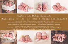 Twin Newborn Posing.  Twin newborn tips.  Twin newborn tutorial.  Favorite twin poses.   http://stephaniecotta.com/mastering-the-art-of-twin-newborn-photography/