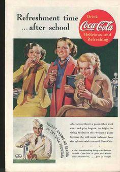 Vintage Coca Cola ad 1937