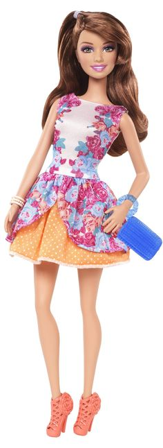 Barbie Fashionista Party Glam Teresa Doll, Floral Dress