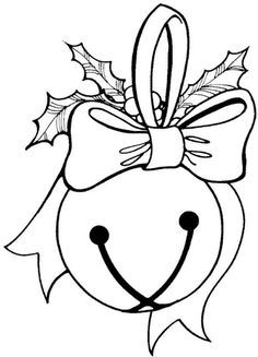 jingle bell Make your world more colorful with free printable coloring pages from italks. Our free coloring pages for adults and kids. Coloring Pages To Print, Coloring Book Pages, Coloring Pages For Kids, Coloring Sheets, Adult Coloring, Christmas Colors, Christmas Art, Christmas Ornaments, Christmas Flowers