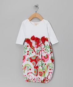 Take a look at this Made 2 Matche White Yuletide Ribbon Gown by Happy Holidays: Apparel & Accessories on #zulily today!