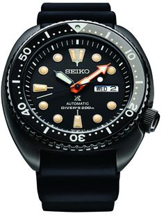 """Vintage Watch The Seiko Prospex """"Black Series"""" is inspired by the world of night diving, with the functions which meet Seiko's stringent standards for diver's watches. Seiko Diver, Unusual Watches, Affordable Watches, Fossil Watches, Seiko Watches, Nixon Watches, Best Watches For Men, Cool Watches, Black Watches"""