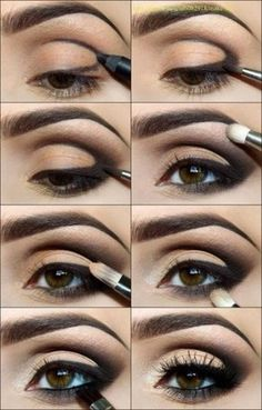 Eye Makeup Tips.Smokey Eye Makeup Tips - For a Catchy and Impressive Look Smokey Eyes Tutorial, Eye Tutorial, Arabic Makeup Tutorial, Eyeliner Tutorial, Black Eyeshadow Tutorial, Tutorial Nails, Beginner Eyeshadow Tutorial, 1920s Makeup Tutorial, Hooded Eye Makeup Tutorial