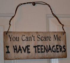 Have Teenagers Sign Door Hanger Teen Room Wall Decor House Decor