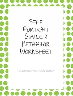 FREE Simile & Metaphor Worksheet